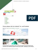 Ferien Zuhause Oder Im Ausland_ Vor- Und Nachteile › Reiseziele.ch