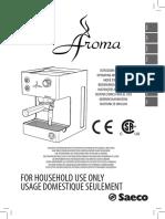 SAECO Aroma Espresso Machine - Operating Instructions