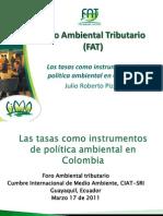 FAT - Las tasas como instrumentos de política ambiental en Colombia