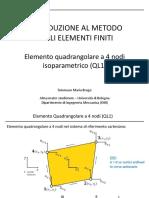 MEF_04_Elemento Quadrangolare 4 nodi (QL1)