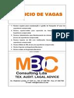 Anúncio de Vagas Mbc