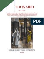 X Domingo Después de Pentecostés. Leccionario
