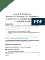 Anuncio de Candidaturas - ToR(PMET)-2021