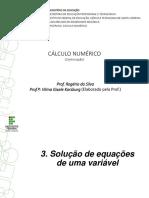 Mat 5 CNM - Solução de Equações de Uma Variável