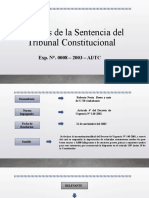 Análisis de La Sentencia Del Tribunal Constitucional