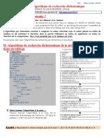 ALG06 Algorithme de recherche dichotomique