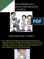 METODOS GENERALES Y AUXILIARES DE EXPLORACION CLINICA
