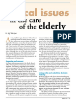 Ethical Issue - Care of Elderly