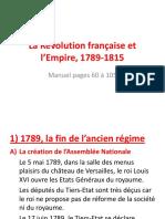 La Revolution Francaise Et l Empire 1789-1815