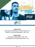 Apresentação - Prof. Me André Rosale