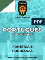 PORTUGUÊS - EX. - Fonética e fonologia (2)