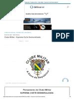 DefesaNet - Pandemic War - Clube Militar - Suprema Corte Desmoralizada