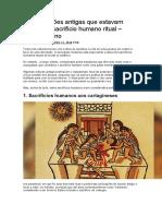 10 Civilizações Antigas Que Estavam Fazendo o Sacrifício Humano Ritual