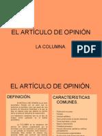 EL ARTÍCULO DE OPINIÓN
