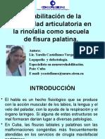 Rehabilitacion de La Motricidad Articulatoria en La Rinolalia Como Secuela de Fisura Palatina (1)