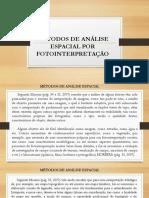Métodos de análise espacial por fotointerpretação