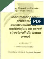 Indrumator pentru Proiectarea constructiilor civile multietajate cu pereti structurali din beton armat v