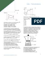Lista Termodinamica 1 Uern 2015 o Grafico Representa Um Ciclo Termodinamico