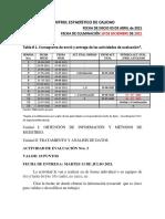 TERCERA ACTIVIDADES DE EVALUACIÓN CEDC 2021