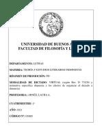o5005 Teoría y Estudios Literarios Feministas Arnes