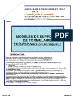 FOR-DIC-01- Liste des formulaires du processus PSP