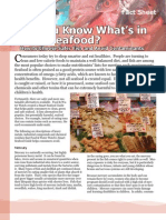 Seafood Contaminants
