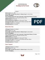 CMC Reading List by Grade