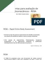 Ferramenta para avaliação de riscos biomecânicos REBA