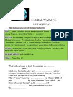 GLOBAL WARMINGLEONARDO DICAPRIO RECAPSCRIBD