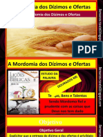 A MORDOMIA DOS DIZIMOS E  OFERTA