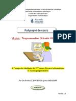Cours_El BOUHISSI Houda_Programmation Orientée Objet