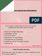 Ebook Planejamento Pessoal