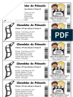 Convite Cinema Primaria 2011