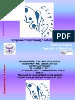 Empowerment Through Rehab & Rights - CHRYSALIDE