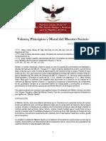 4° Valores Principios y Moral del Maestro Secreto - V.·.H.·. Roberto R. Buendía Aparcana 4°