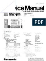 Manual servicio panasonic SA-HT640wpl
