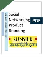 Sunsilk - Social Networking for Product Branding