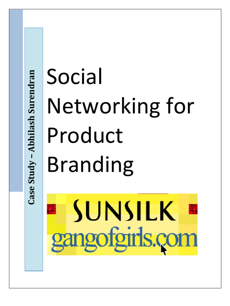 Sunsilk Social Networking For Product Branding Human Hair Hairdressing
