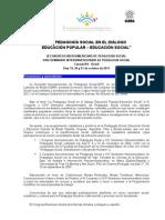 Programa IIICongreso pedagogía Social 2011_Espanhol