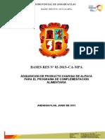 BASES DE PRODUCTO CARNICO 2015