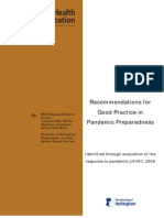 Pandemic preparedness recommendations_WHO Euro