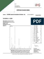 Cromatografia - Óleo Essencial de Alecrim ViaAroma