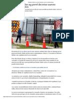 Estados Unidos no prevé decretar nuevos confinamientos