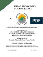 EVALUACIÓN FINAL RESULTADO DE APRENDIZAJE UNIDAD II Logistica