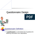 questionnarie design for students