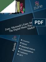 Presentation on Microsoft's ZUNE