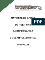 Material de Apoyo de Politicas Agropecuarias y Desarrollo Rural