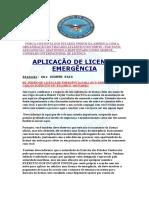 CERTIFICADO DE LICENÇA DE EMERGÊNCIA PARA ROBERT TAYLOR CARLOS