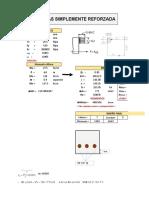 Hoja de calculo para el diseño Vigas Doblemente armada y Simplemente armada (1)