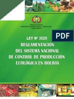 Bolivia - Ley 3525 y Reglamentos SNCPE
